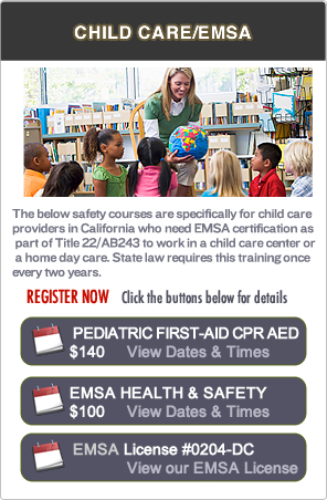 EMSA Pediatric First-aid Classes in Sacramento